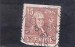 Stamps Sweden -  CARL VON LINNÉ-botánico