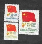 Stamps : Asia : China :  62-63-64 - Banderas