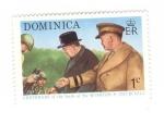 sellos de America - Dominica -  Centenario del nacimiento de Winston Churchill