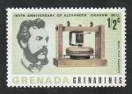 Stamps : America : Grenada :  184 - Graham Bell, primer teléfono