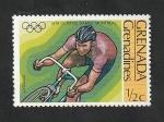 Stamps : America : Grenada :  170 - Olimpiadas de Montreal, ciclismo