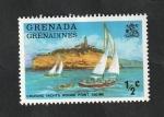 Stamps : America : Grenada :  Yates de crucero
