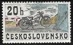 Sellos del Mundo : Europa : Checoslovaquia :  Ciclomotores - ČZ 150, Strakonice 1951