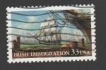Sellos de America - Estados Unidos -  Inmigración irlandesa