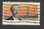 Stamps United States -  Bartholdi escultor de la estatua de la libertad