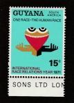 Stamps Guyana -  Año de las interelaciones raciales