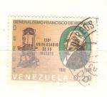 Sellos del Mundo : America : Venezuela : RESERVADO Francisco de Miranda