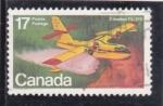 Sellos del Mundo : America : Canadá : HIDROAVIÓN CANADAIR CL-215
