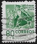 Sellos de America - México -  Michoacán, Danza de los Moros