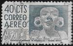 Sellos del Mundo : America : México : San Luis Potosí, Arqueología, rostro de adolescente