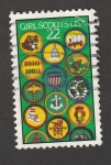 Stamps Spain -  Chicas scouts