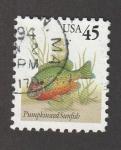Sellos de America - Estados Unidos -  Pumpkinseed sunfish