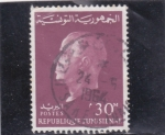 Stamps : Africa : Tunisia :  presidente bourguiba