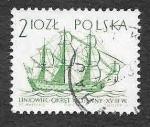 Stamps : Europe : Poland :  1210 - Velero