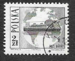Stamps : Europe : Poland :  1447 - Barco