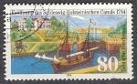 Sellos del Mundo : Europa : Alemania :  1056 - 200 anivº del canal de Schleswig Holstein