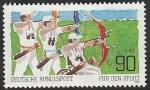 sello : Europa : Alemania : 960 - Tiro con arco
