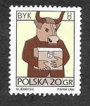 Stamps : Europe : Poland :  3279 - Signo del Zodiaco