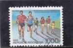 Stamps Indonesia -  Carrera pedestre