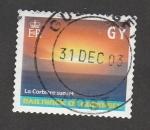 Stamps Jersey -  Puesta de sol eb la Corbiere