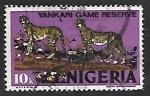 Sellos de Africa - Nigeria -  Felinos de Presa - Guepardos