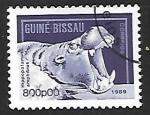 Sellos de Africa - Guinea Bissau -  Hipopótamos