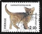 sello : Europa : Suecia : Gato