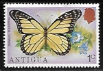 Stamps : America : Antigua_and_Barbuda :  Mariposas