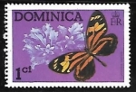 Stamps : America : Dominica :  Mariposas