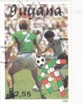 Stamps Guyana -  MUNDIAL DE FUTBOL ITALIA'90