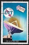 Sellos de Asia - Corea del norte -  Satellite and antenna