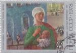 Stamps : Europe : Russia :  PINTURA- MUJER Y NIÑO