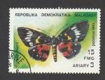 Stamps Madagascar -  Eusomia bisma