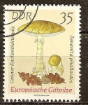 Stamps : Europe : Germany :  1619 - Champiñón,  amanita phaloides