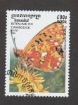 Stamps Asia - Cambodia -  Clossiana euphrosyne