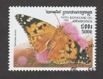 Sellos de Asia - Camboya -  Vanessa cardui