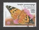 Stamps Asia - Cambodia -  Vanessa cardui