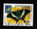 Stamps : Asia : Cambodia :  Papilio palinurus