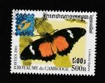 Sellos de Asia - Camboya -  Cethosia hypsea