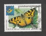 Stamps : Asia : Cambodia :  Nymphalis polychloros