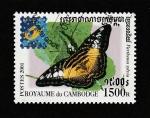 Stamps : Asia : Cambodia :  Parthenos sylvia