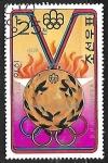Stamps Asia - North Korea -  Juegos Olímpicos - Medallas -Waldemar Cierpinski, DDR