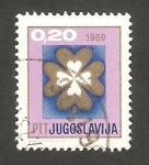 Stamps Europe - Yugoslavia -  1208 - Año Nuevo 1969, Trébol de cuatro hojas