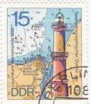 Stamps Europe - Germany -  1635 - Faro de Warnemunde