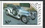 de Africa - Tanzania -  CENTENARIO  DEL  AUTOMÓVIL.  ROLLS  ROYCE  SILVER  GHOST  1907.