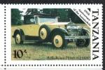 de Africa - Tanzania -  CENTENARIO  DEL  AUTOMÓVIL.  ROLLS  ROYCE  PHANTOM  I 1926.