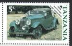 de Africa - Tanzania -  CENTENARIO  DEL  AUTOMÓVIL.  ROLLS  ROYCE  PHANTOM  II 1933.