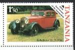 de Africa - Tanzania -  CENTENARIO  DEL  AUTOMÓVIL.  ROLLS  ROYCE  20/25  1936.