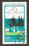 de Europa - Alemania -  1665 - Centº del U.P.U., barcos