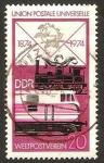 de Europa - Alemania -  1666 - Centº del U.P.U., trenes